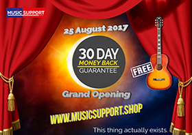 Music Support Shop Grand Opening Website Online